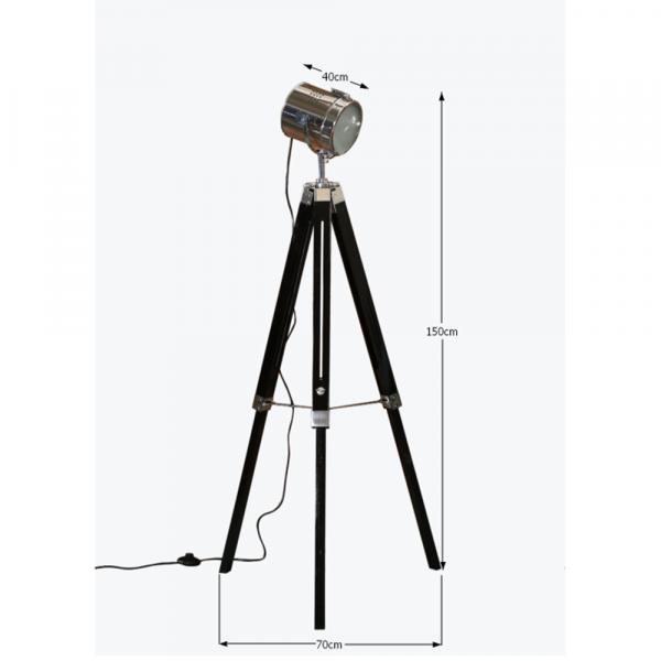 Lampă de podea lemn metal CINDA TYP 26 YF819-B [3]