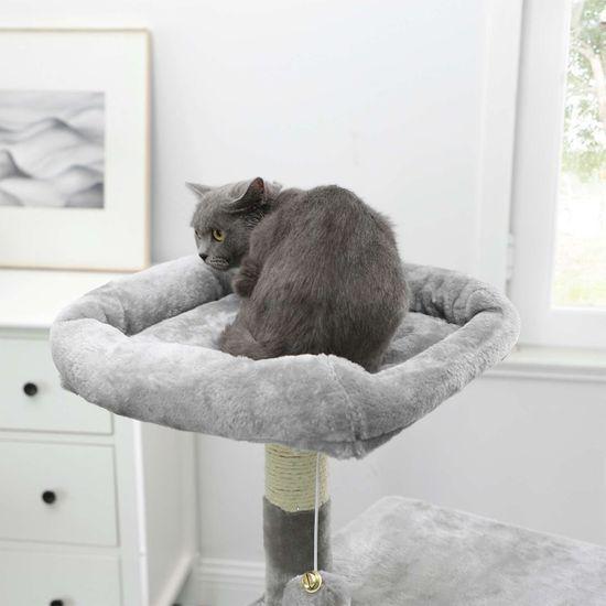 Ansamblu de joaca pentru pisici cu hamac si pestera PCT52W 5