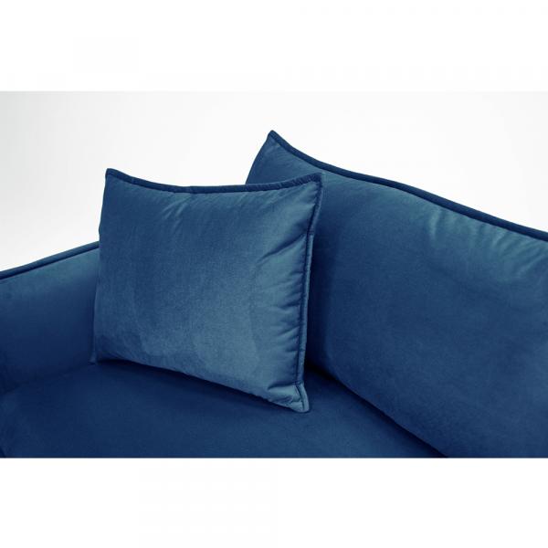 Canapea de lux cu 3 locuri albastru parizian VINSON 3 1