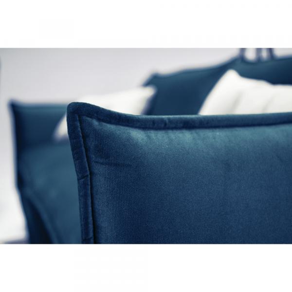Canapea de lux cu 3 locuri albastru parizian VINSON 3 2