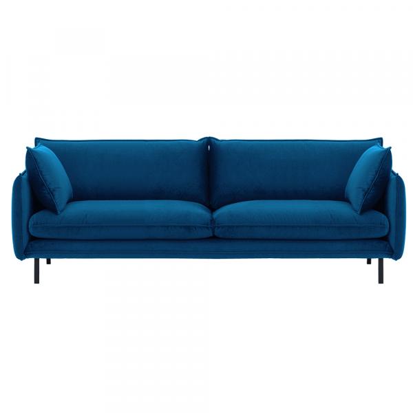 Canapea de lux cu 3 locuri albastru parizian VINSON 3 0