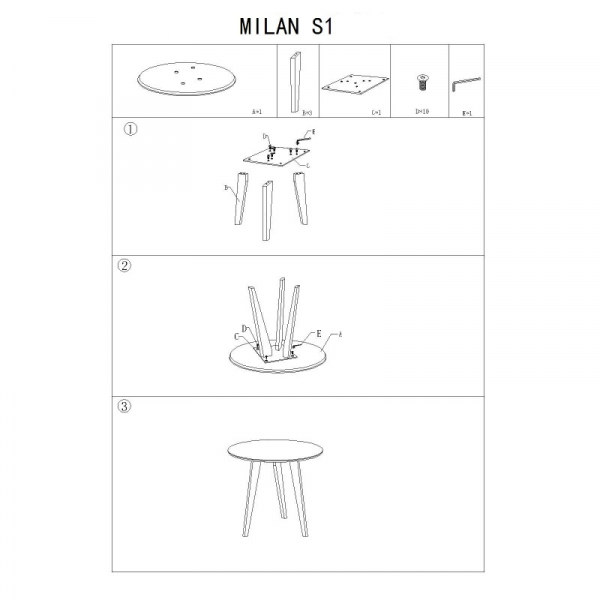 Masa cafea SL Milan S1 gri - stejar 1