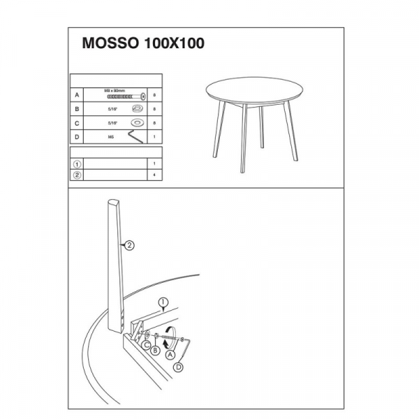 Masa living SL Mosso II alb - stejar 3