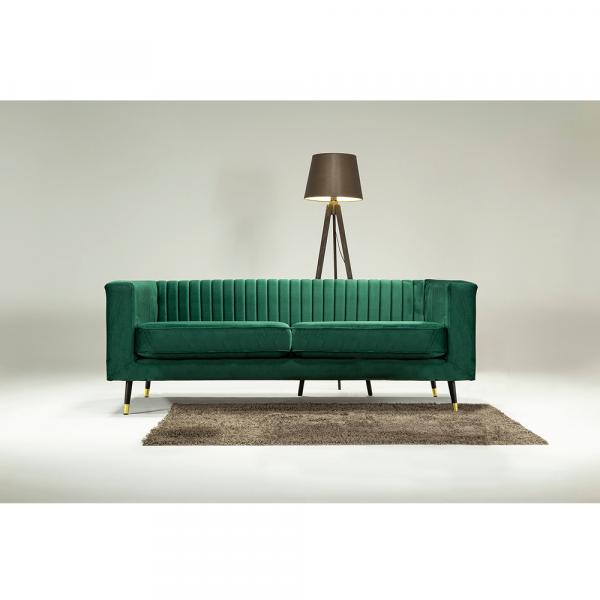 Canapea velvet cu 2 locuri verde smarald SOMY 2 [0]