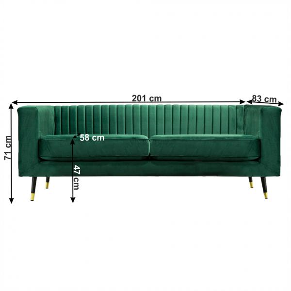 Canapea cu 3 locuri tapitata SOMY 3 [5]