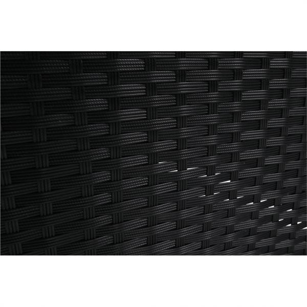 Set de gradina 7 piese tehno-rattan negru gri MODESTO 20