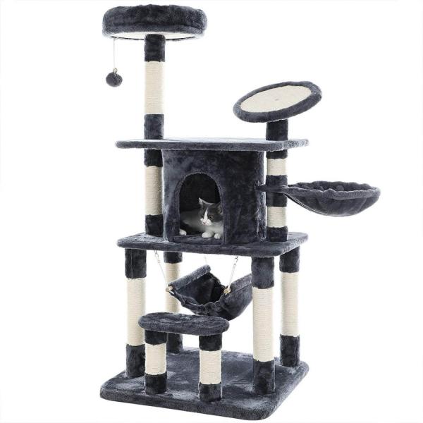 Ansamblu de joaca pentru pisici cu multiple nivele PCT25G 0