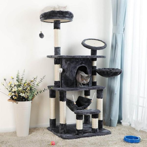 Ansamblu de joaca pentru pisici cu multiple nivele PCT25G 3