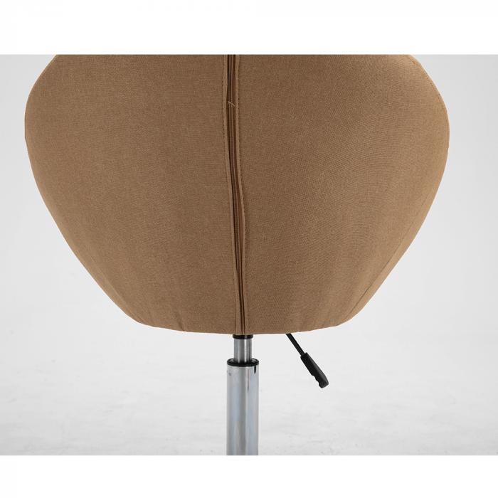 Fotoliu rotativ crom material textil KONOR 3