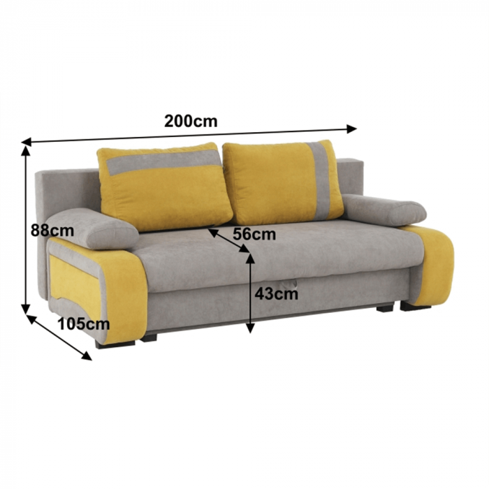 Canapea extensibila cu spatiu depozitare BOLIVIA [1]