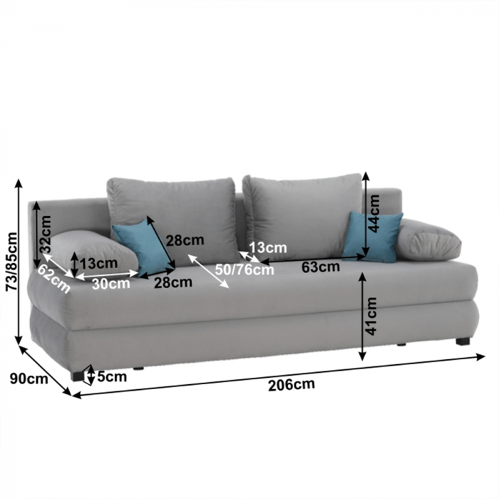 Canapea extensibila cu spatiu depozitare CLIV [1]