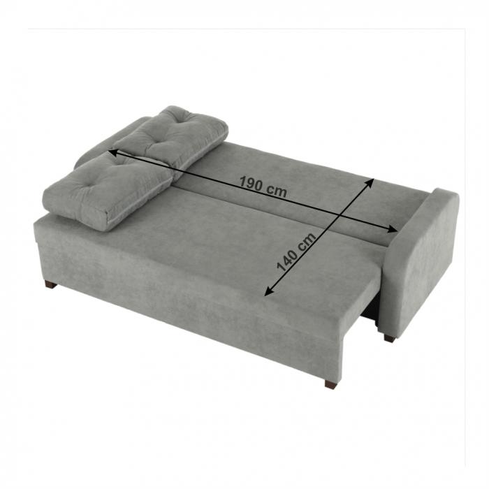 Canapea extensibila cu spatiu depozitare PORTORIKO [7]