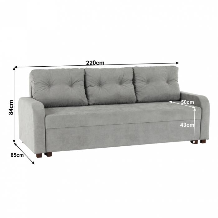 Canapea extensibila cu spatiu depozitare PORTORIKO [1]