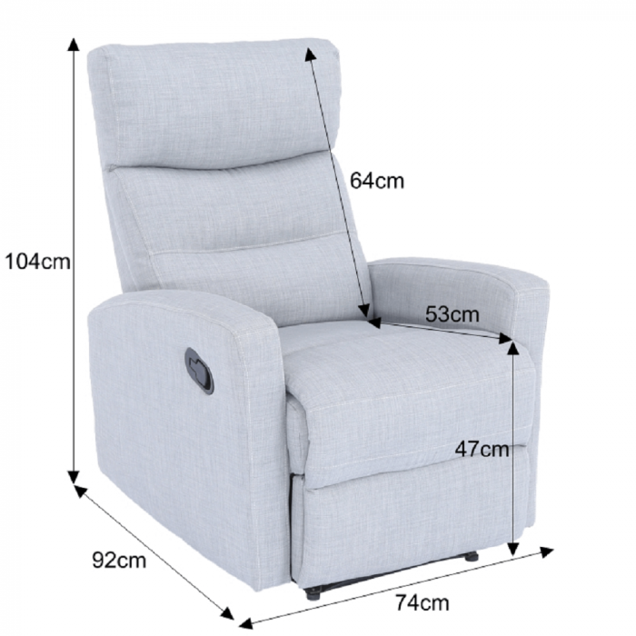 Fotoliu relaxare recliner SILAS 1