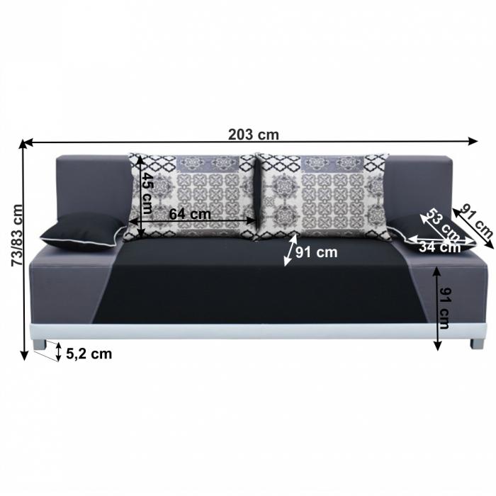 Canapea extensibila cu perne ROKAR 1