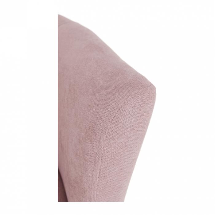 Fotoliu tapitat stil club cu taburet ROSE 11