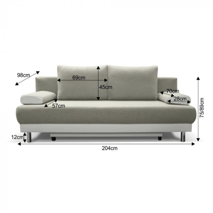 Canapea extensibila cu spatiu depozitare FERDI [1]