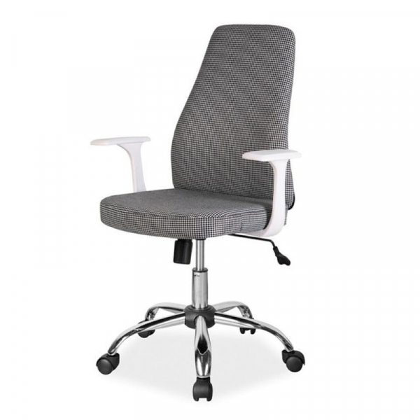 Scaun birou SL Q139 alb - negru