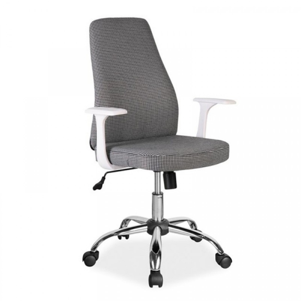 Scaun birou SL Q139 alb - negru 1