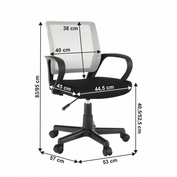 Scaun de birou rotativ tapitat ADRA [3]