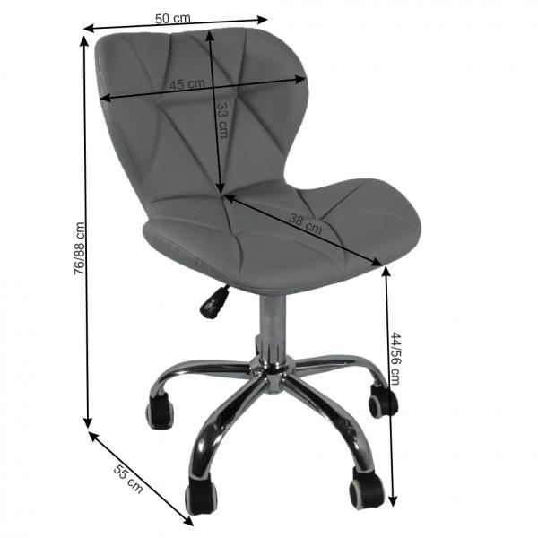 Scaun de birou tapitat rotativ ARGUS 1