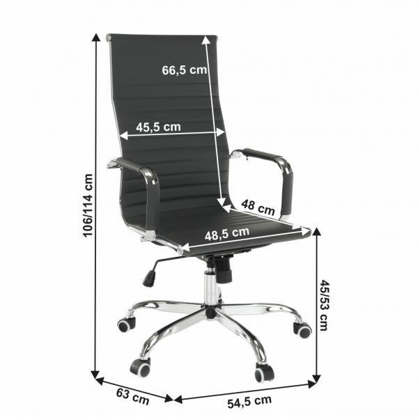 Scaun de birou rotativ tapitat AZURE 2 NEW [3]