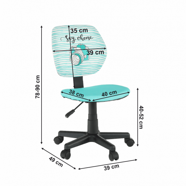 Scaun de birou rotativ tapitat BLUES [3]