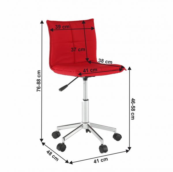 Scaun de birou rotativ tapitat CRAIG 3