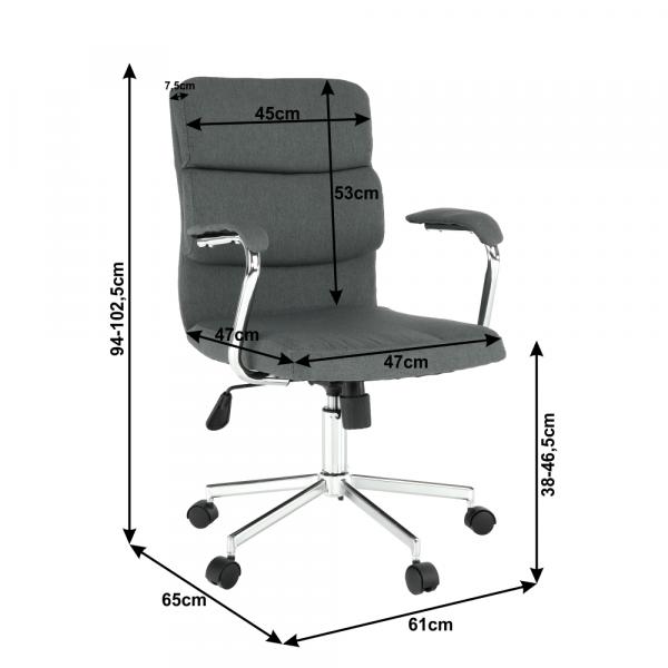 Scaun de birou rotativ tapitat DARLOS NEW [4]