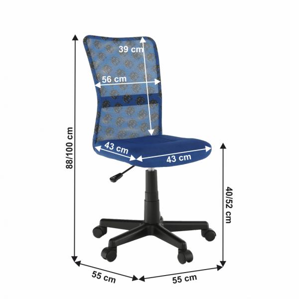 Scaun de birou rotativ tapitat GOOFY [3]