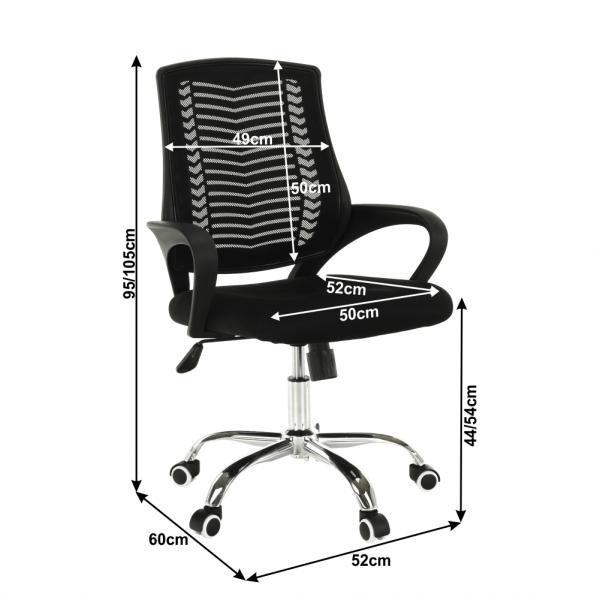 Scaun de birou rotativ tapitat IMELA TYP 2 4