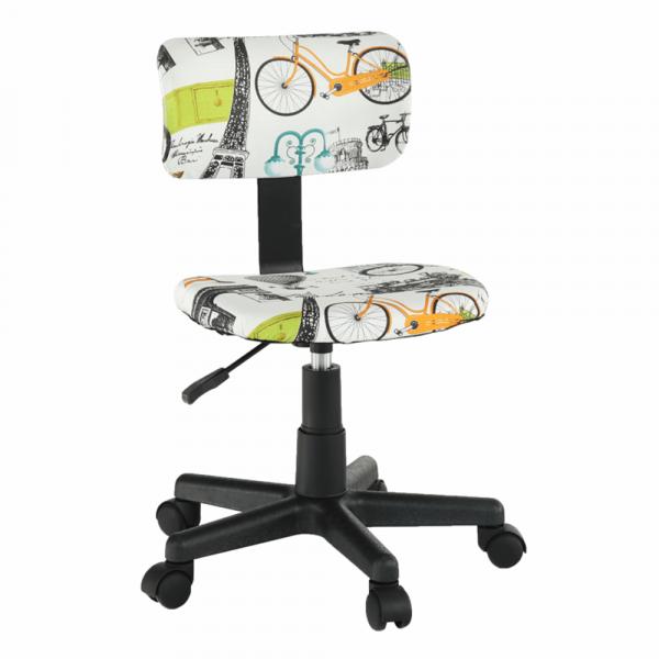 Scaun de birou rotativ tapitat KIDS 0