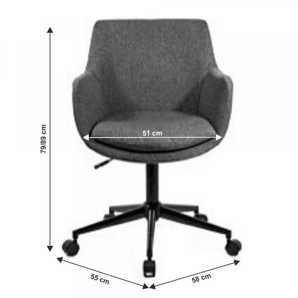 Fotoliu office rotativ tapitat LAIRA 1