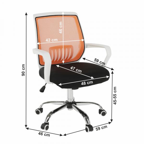 Scaun de birou rotativ tapitat LANCELOT 6