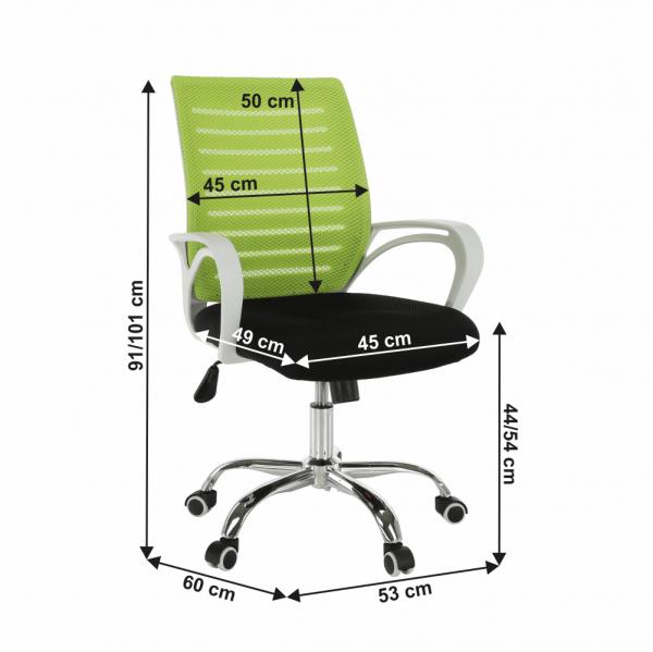 Scaun de birou rotativ tapitat OZELA 4