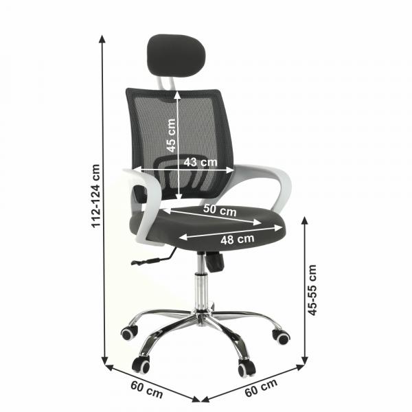 Scaun de birou rotativ tapitat SANAZ TYP 1 3
