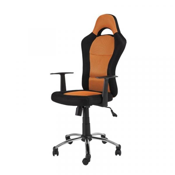 Scaun directorial SL Q039 negru - portocaliu 0
