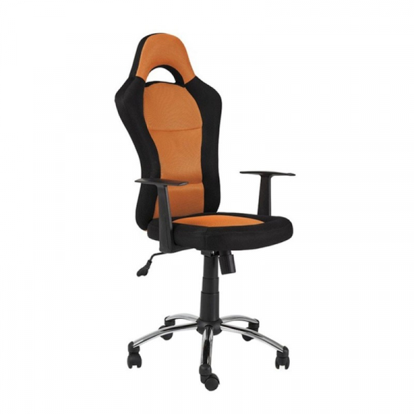 Scaun directorial SL Q039 negru - portocaliu 1