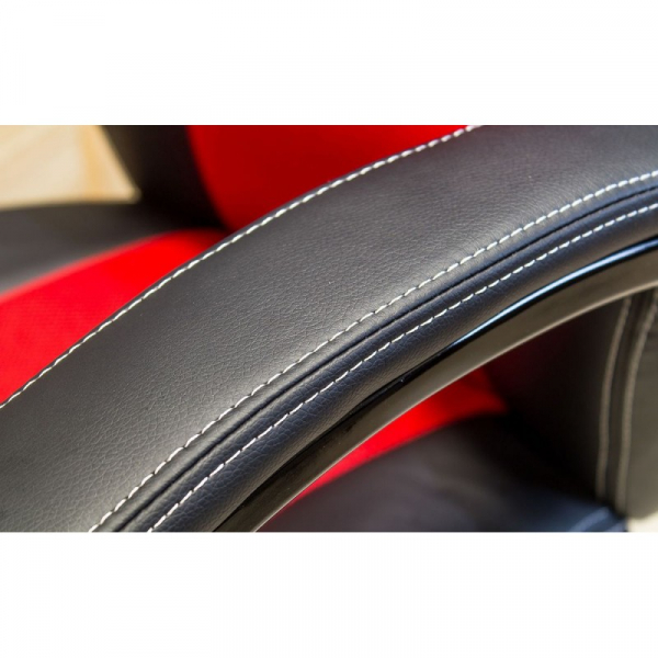Scaun directorial SL Q107 negru - rosu 4