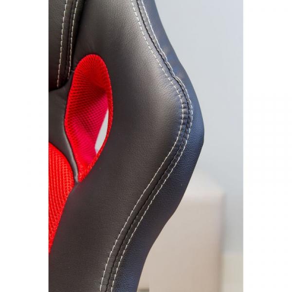 Scaun directorial SL Q107 negru - rosu 5