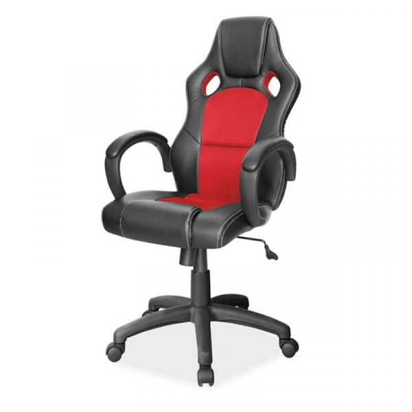 Scaun gaming SL Q103 negru - rosu 0