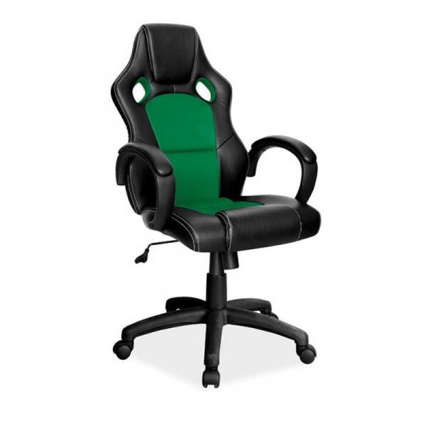 Scaun gaming SL Q103 negru - verde 1