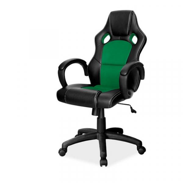 Scaun gaming SL Q103 negru - verde 0