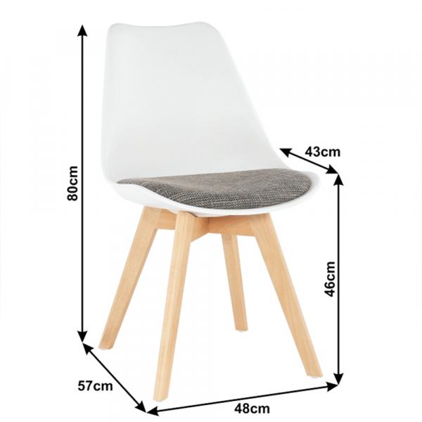 Set 2 scaune dining tapitateDAMARA 6