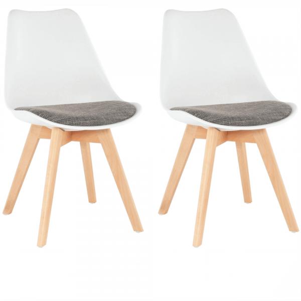 Set 2 scaune dining tapitateDAMARA 0