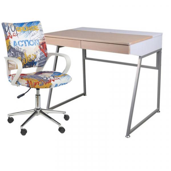 Set birou SL B130 plus scaun birou HM Ibis Freestyle 0