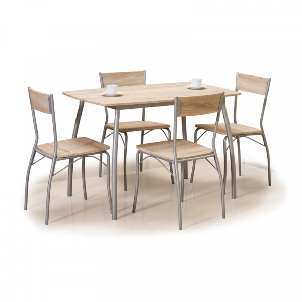 Set masa cu 4 scaune SL Astro stejar sonoma 1