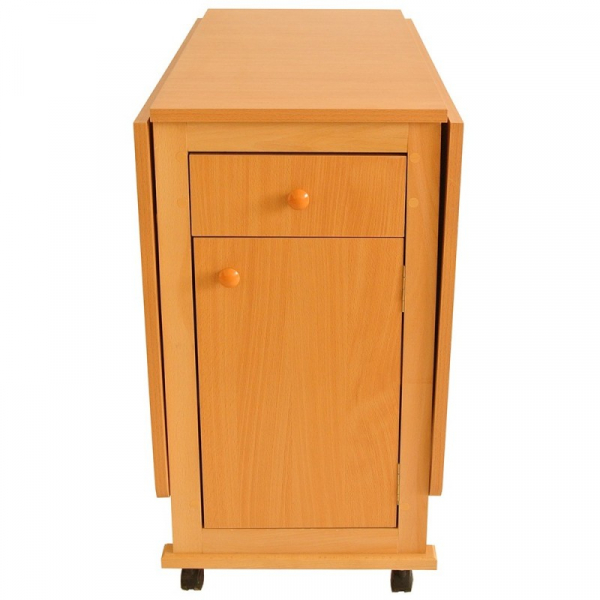 Set masa plianta cu usa si sertar cu 6 scaune Fag 3