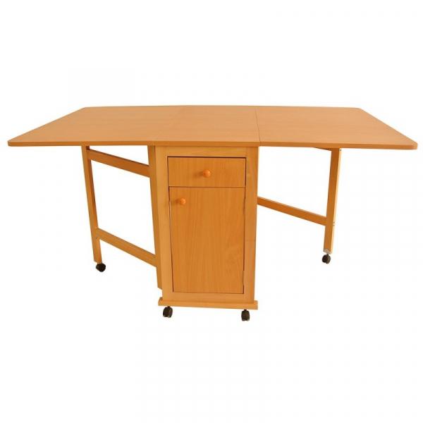 Set masa plianta cu usa si sertar cu 6 scaune Fag 1