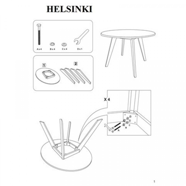 Set masa SL Helsinki plus 4 scaune SL CD37 2